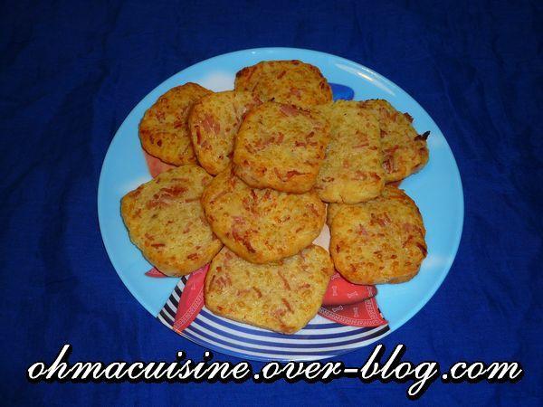 Biscuits apéro &quot&#x3B;Goutzy&quot&#x3B; (bacon et comté)