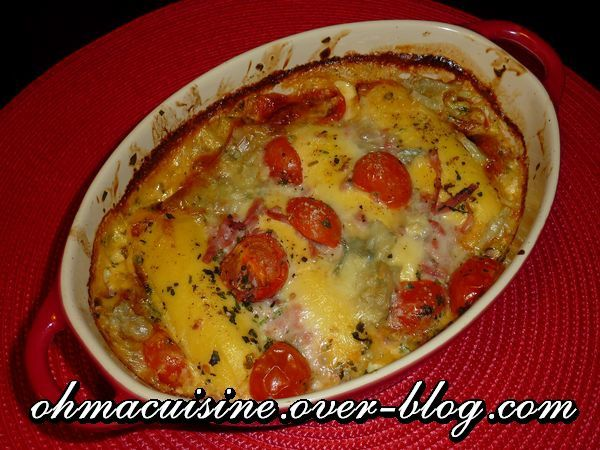 gratin de quenelles au gorgonzola et tomates ohmacuisine. Black Bedroom Furniture Sets. Home Design Ideas