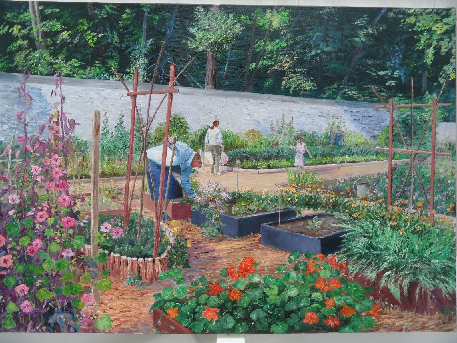 Le jardin de caillebotte huiles sur toile for Combattre les moustiques dans le jardin