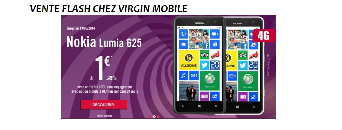 Bon plan smartphone 4g chez virgin mobile le blog bon plan mobile - Discount vente flash ...