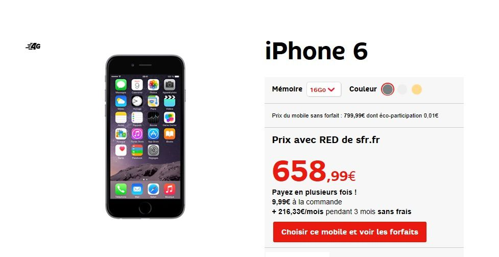 le meilleur prix du web sur l 39 apple iphone 6 le blog bon plan mobile bon plan smartphone et. Black Bedroom Furniture Sets. Home Design Ideas