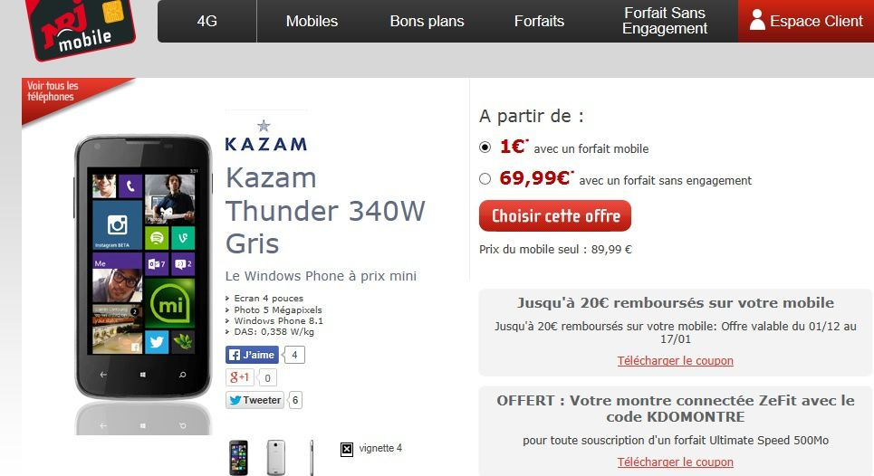 kazam thunder 340w odr de 20 euros le blog bon plan mobile bon plan smartphone et tablette. Black Bedroom Furniture Sets. Home Design Ideas