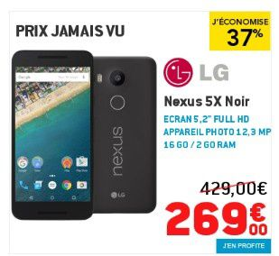 bon plan mobile smartphone nexus 5x 269 euros seulement le blog bon plan mobile bon plan. Black Bedroom Furniture Sets. Home Design Ideas