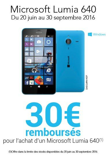 30 euros rembours s sur le nokia lumia 640 smartphone le blog bon plan mobile bon plan. Black Bedroom Furniture Sets. Home Design Ideas