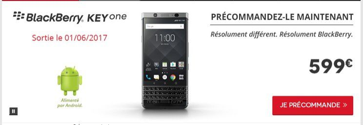bon plan blackberry keyone en pr commande chez darty le blog bon plan mobile bon plan. Black Bedroom Furniture Sets. Home Design Ideas