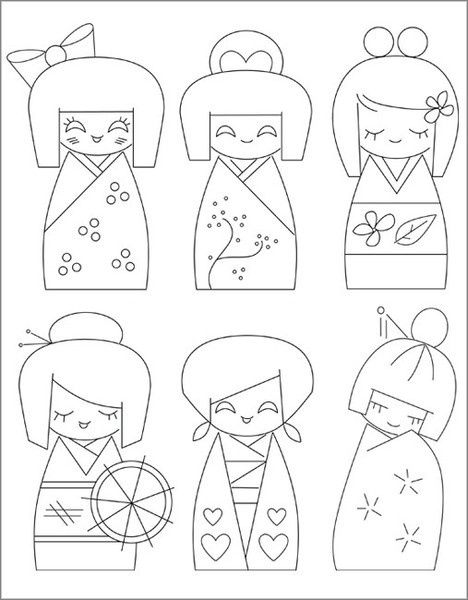 china dolls coloring pages - photo#19