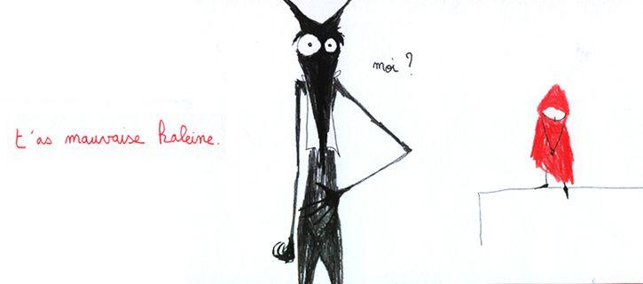 Le crayonné déconcertant le Marjolaine LERAY