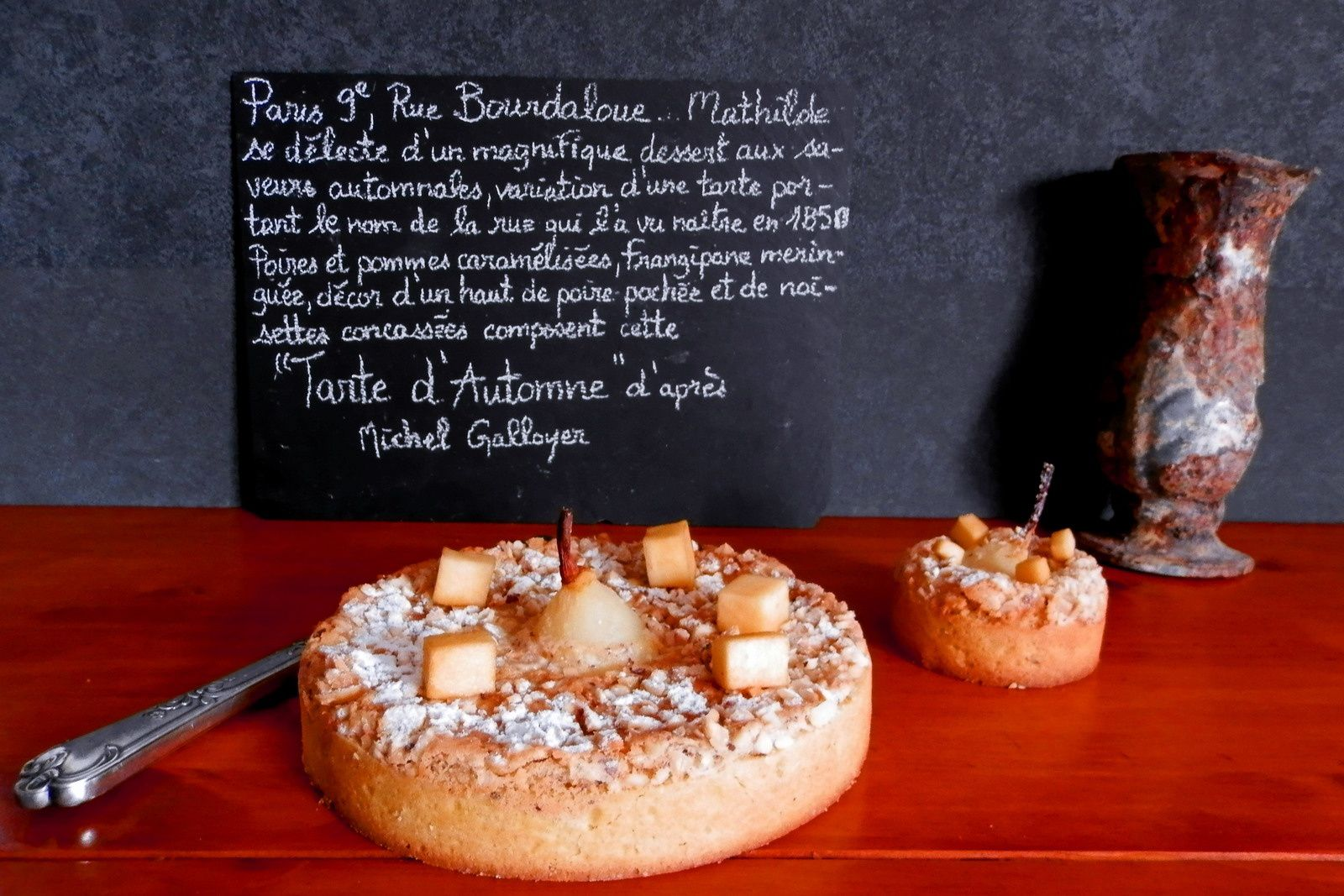Tarte d'Automne ou Tarte Bourdaloue version Michel Galloyer