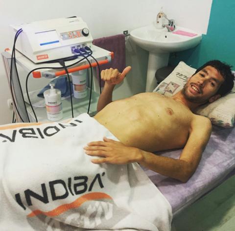 Le marathonien Javier Guerraen plein traitementINDIBA!