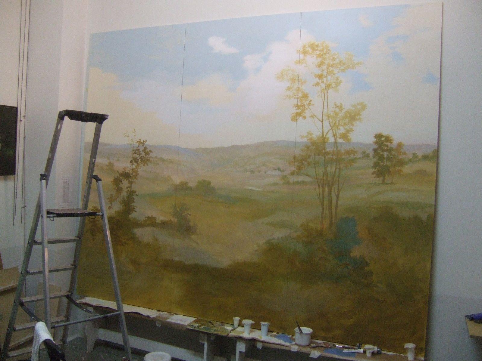 Peinture murale pour une salle de bain