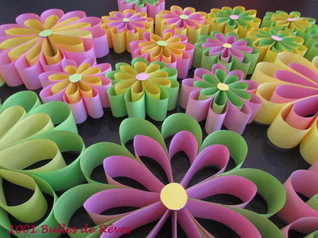 des fleurs en papier pour une jolie d coration printani re de p ques 1001 bulles de r ves. Black Bedroom Furniture Sets. Home Design Ideas