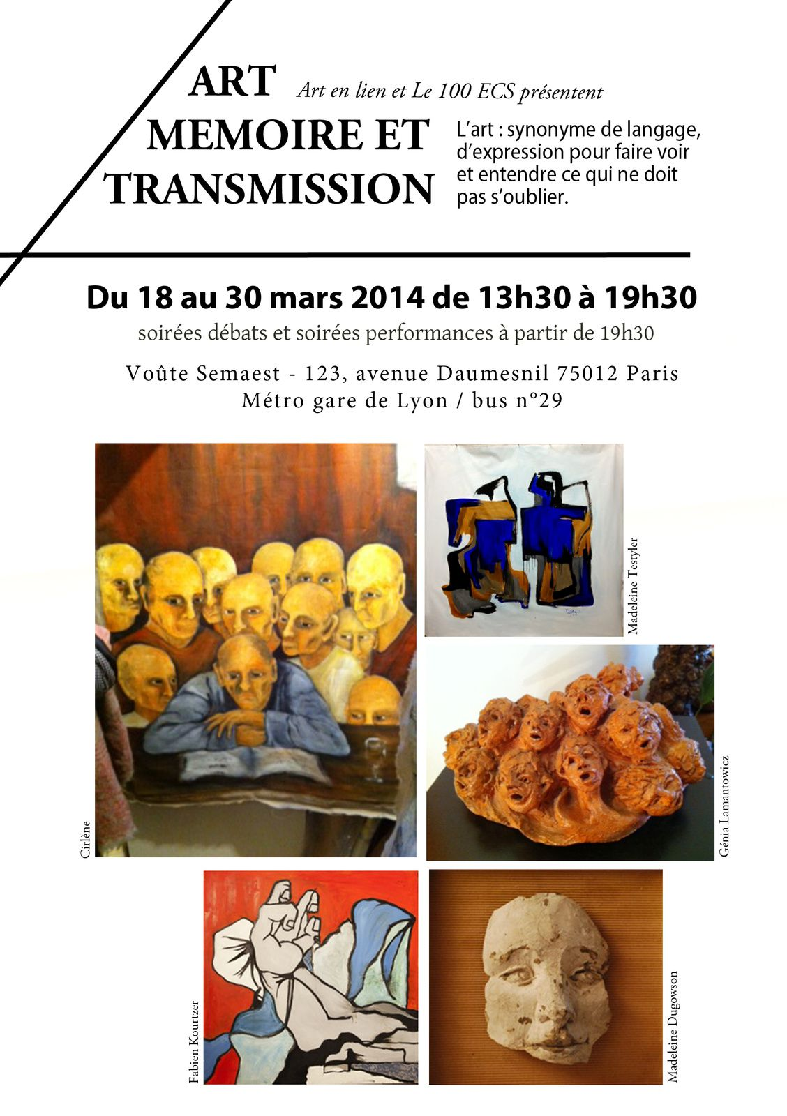 ART MEMOIRE ET TRANSMISSION