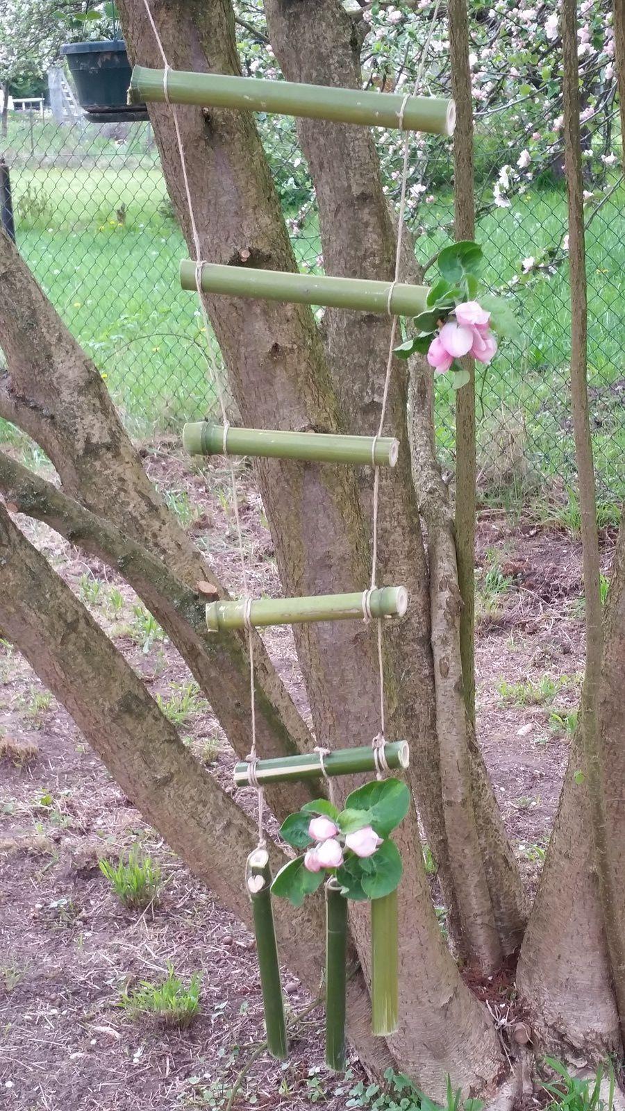 petit bricolage chez ma belle fille, avec des bambous...