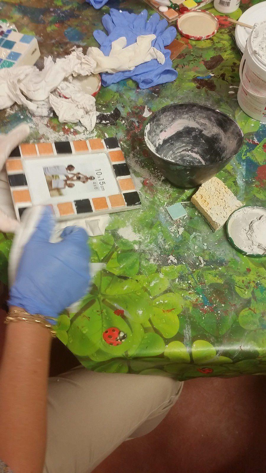 suite et fin de l'atelier mosaique