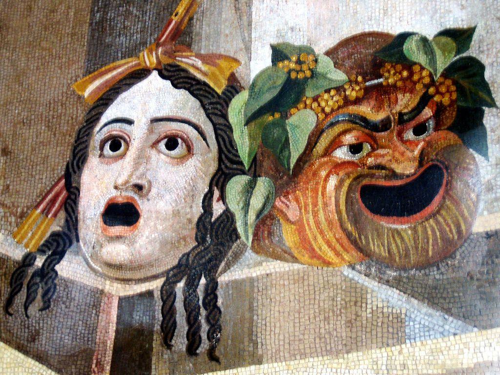 Masque tragi-comique, Villa Hadriana,Tivoli