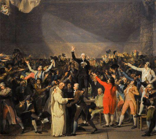 Le Serment du Jeu de Paume, peinture de J.L. David (1791)