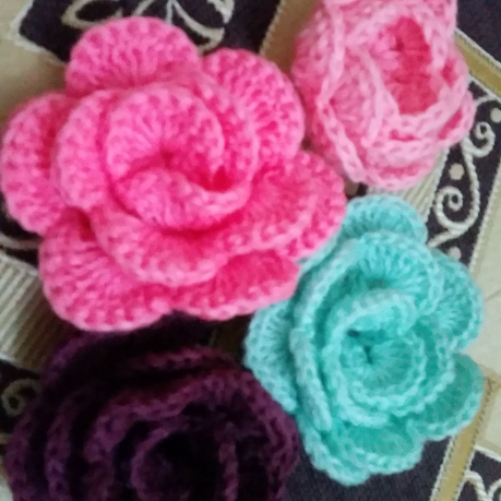 Petite fleurs au crochet