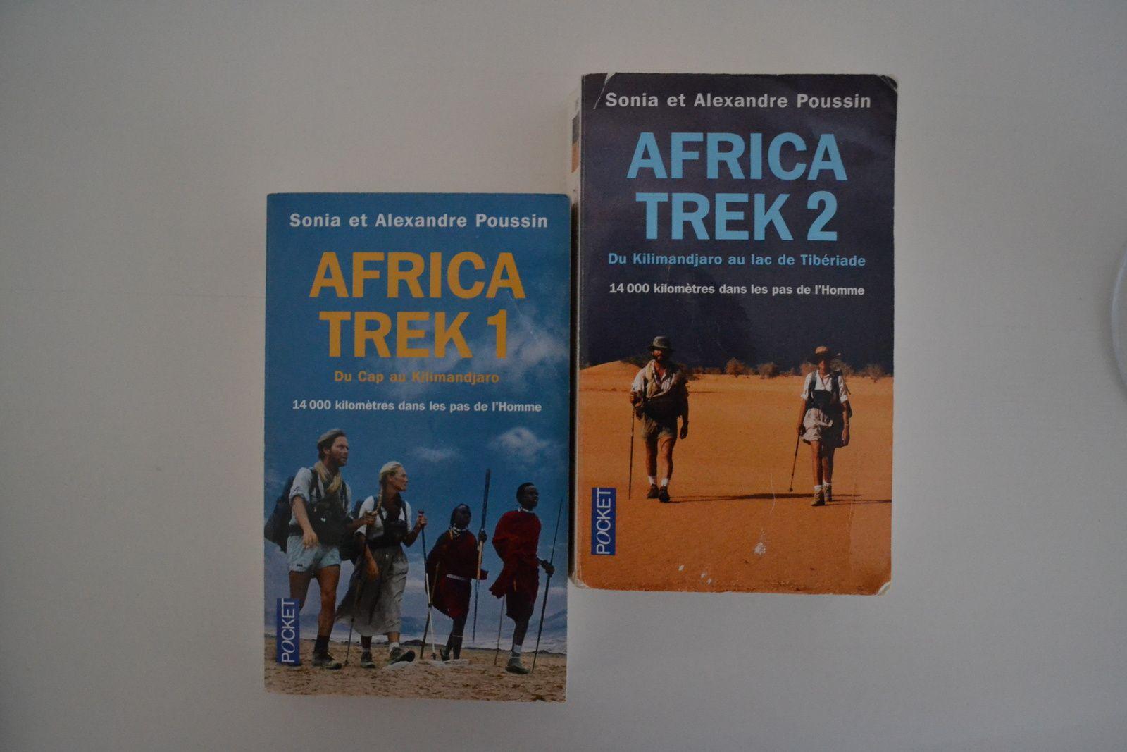 ... les livres Africa Trek 1 et 2 de Sonia et Alexandre Poussin