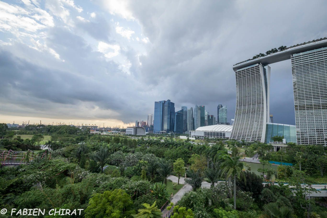 Marina bay sands au premier plan