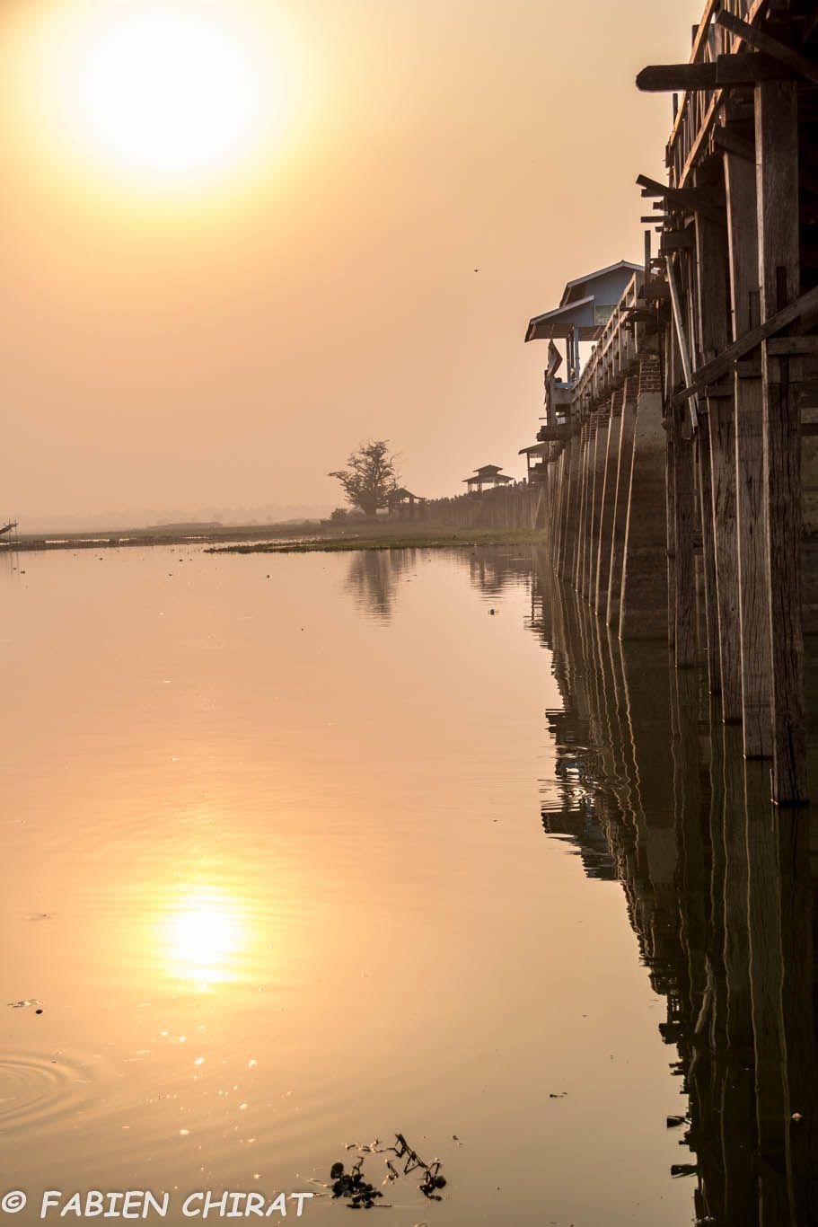 Pont U BEIN sur le lac Taungthaman.