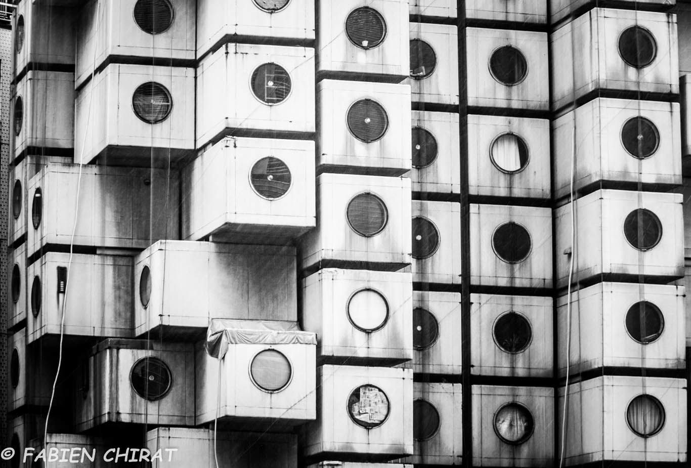 Nakagin capsule tower (quartier de Shimbashi)