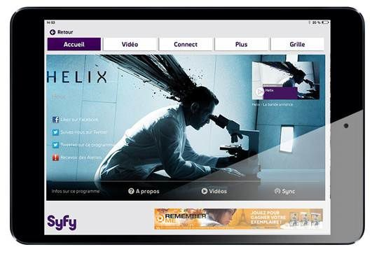 Syfy lance son application tablette gratuite
