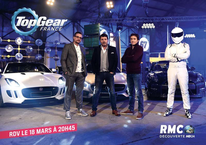 L'équipe de Top Gear France (Crédit photo : Abaca Press / Visual Press Agenc )