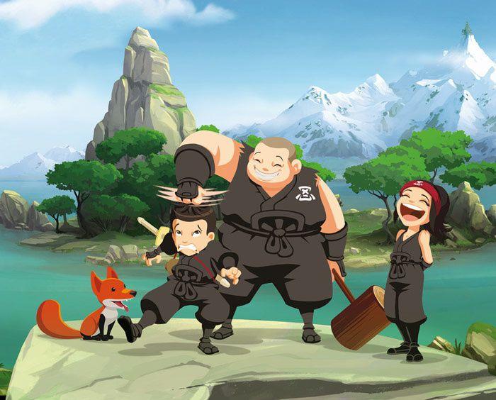 Mini-Ninjas, nouvelle série d'animation dès le 21 mars dans TFOU