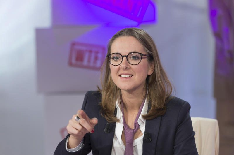 Charline Vanhoenacker (Crédit photo : Nathalie Guyon / FTV)