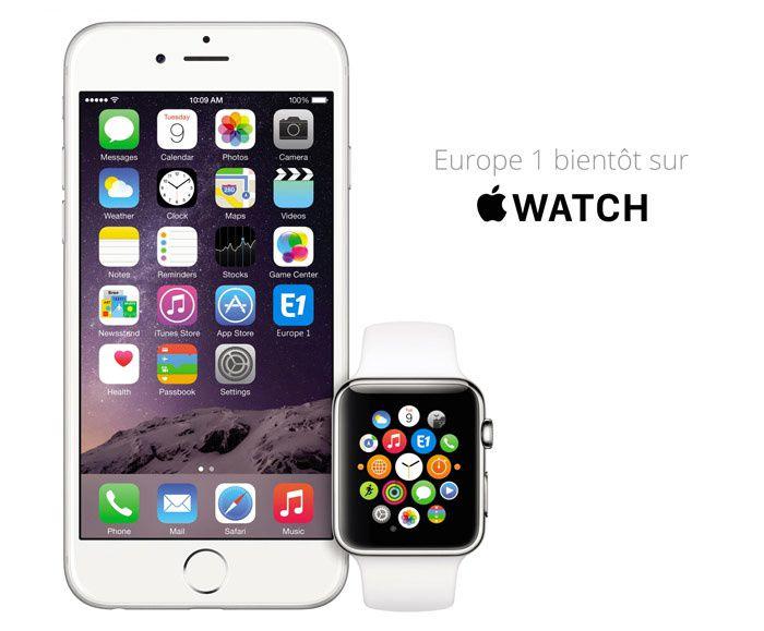 Europe 1 déjà présente sur l'Apple Watch