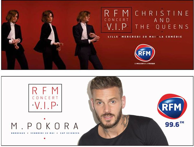 RFM organise en mai des concerts V.I.P. avec Christine and The Queens et M.Pokora