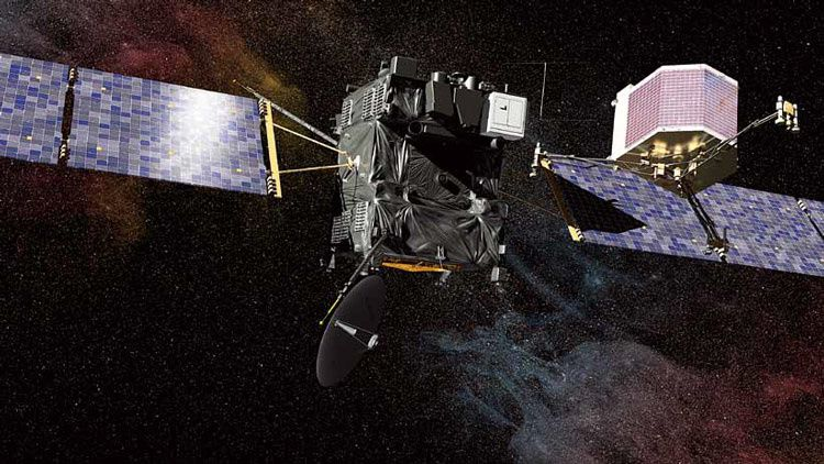 La sonde Rosetta (Crédit photo : CNES / EKIS France)