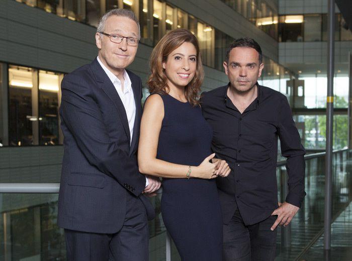 Laurent Ruquier, Léa Salamé et Yann Moix (Crédit photo : Charlotte Schousboe / FTV)