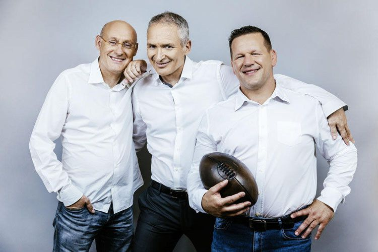 Bernard Laporte, Christian Jeanpierre et Christian Califano (Crédit photo : Benjamin Decoin / TF1)