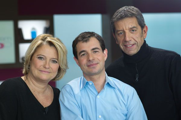 Marina Carrère d'Encausse, Benoît Thévenet et Michel Cymès (Crédit photo : Nathalie Guyon / FTV)