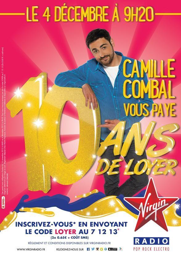 Le 4 décembre, Camille Combal vous offre 10 ans de loyer sur Virgin Radio (vidéo)