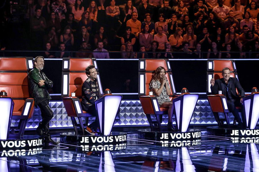 Le jury de la saison 5 de The Voice (Crédit photo : Yann Dejardin / Bureau 233 / TF1)