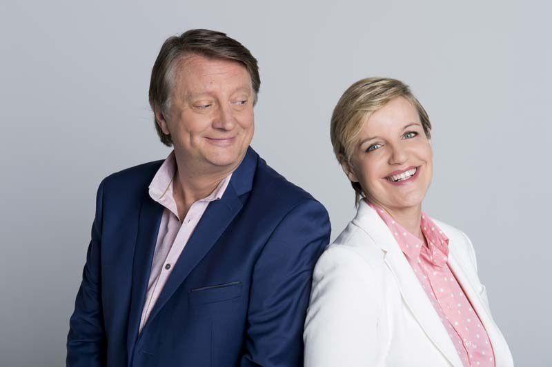 Lionel Chamoulaud et Céline Géraud (Crédit photo : Nathalie Guyon / FTV)