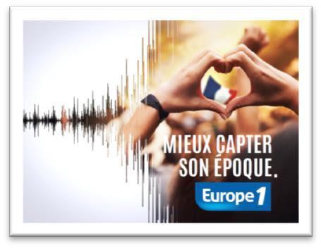 Europe 1 dévoile son nouveau claim dans une campagne