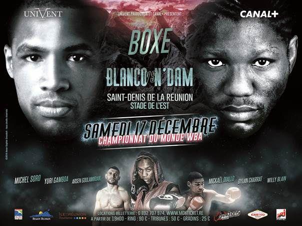 Soirée boxe en direct de Saint-Denis de la Réunion sur Canal+