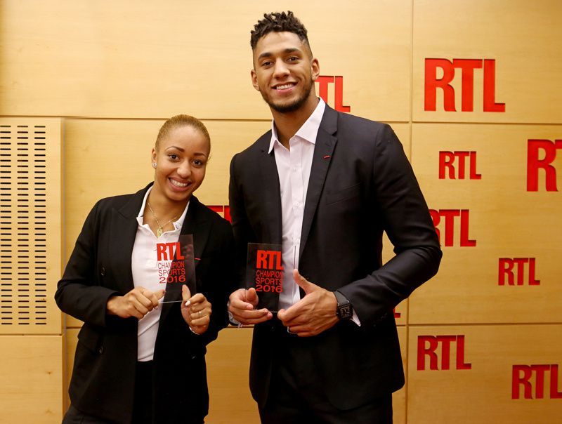 Estelle Mossely et Tony Yoka (Crédit Photo : Fred Bukajlo / Sipa Press pour RTL)