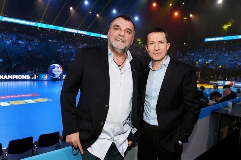 Philippe Gardent et Grégoire Margotton (Crédit photo : Alain Mounic / Presse Sports)