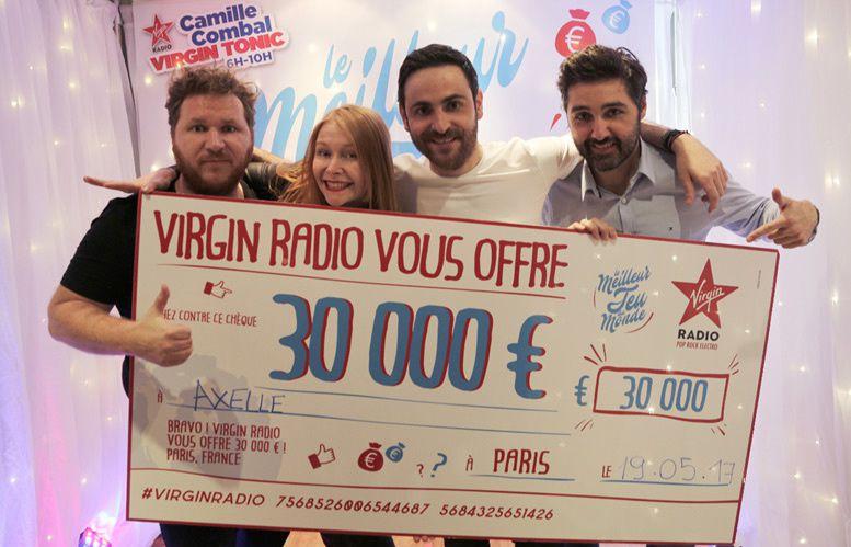 Axelle de Pau a gagné 30 000 Euros ce matin sur Virgin Radio au &quot&#x3B;Meilleur Jeu du Monde&quot&#x3B;