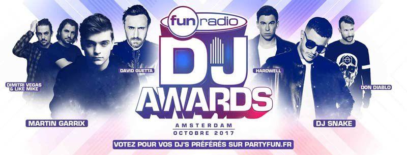 Les votes sont ouverts pour les Fun Radio DJ Awards 2017 (liste des nominations)