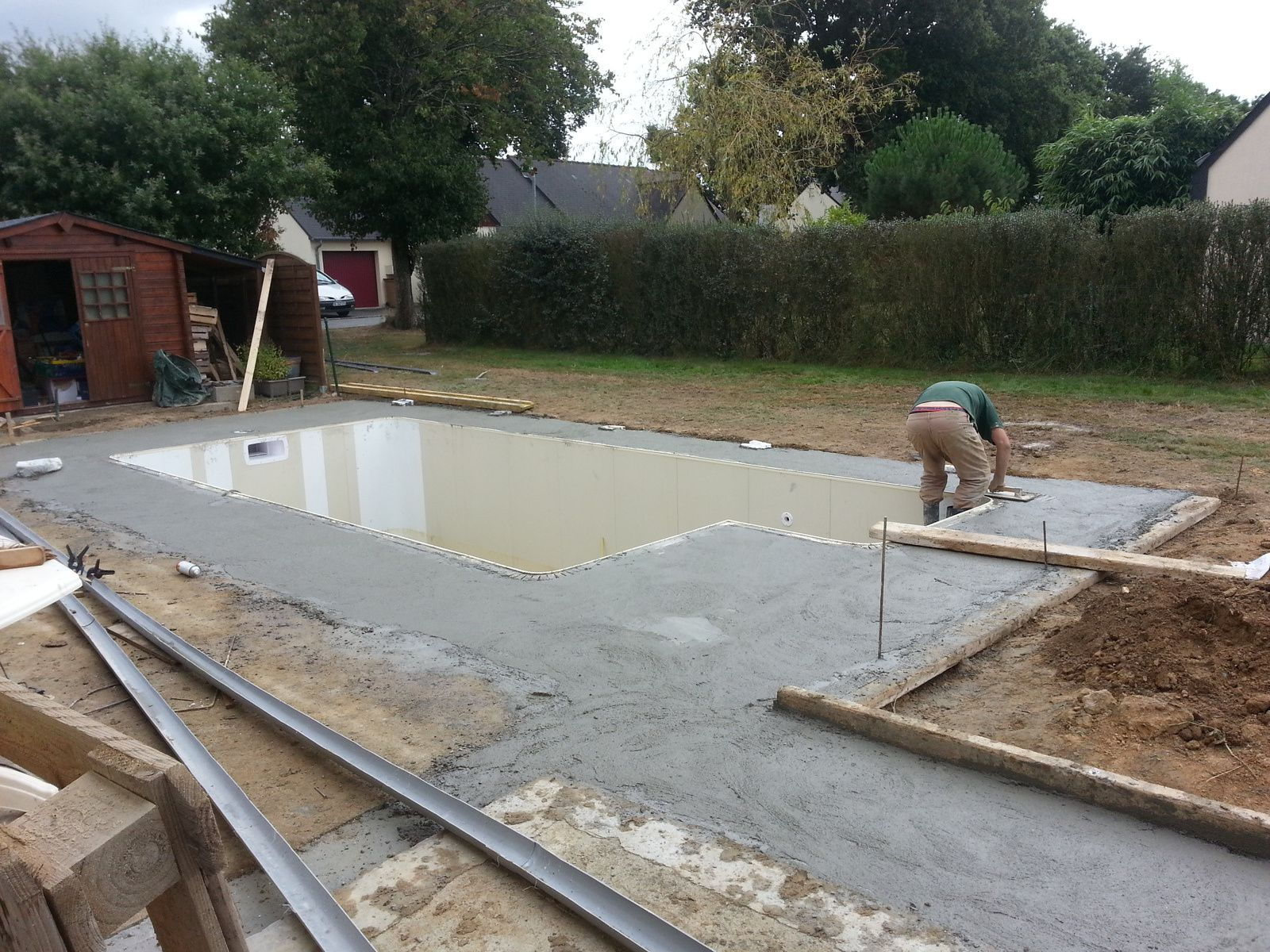 La construction de ma piscine aquilus 35 voici les for Construction piscine 35