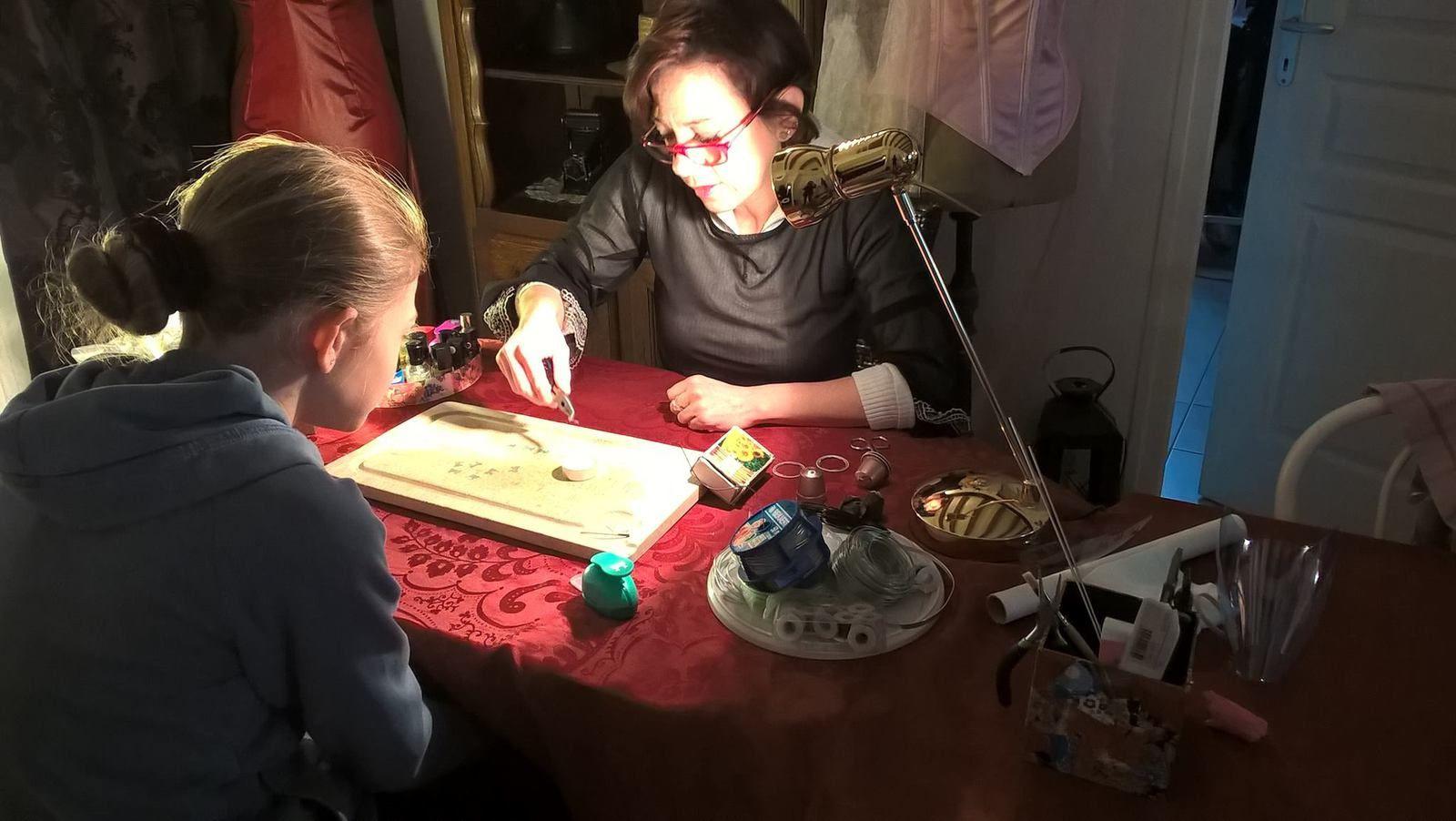 Atelier avec une jeune demoiselle de 12 ans lors des JEMA 2016...