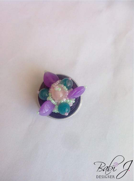 Le compliqué dans ce collier a été de réusir à associer les perles et de trouver la bonne méthode pour son maitien...