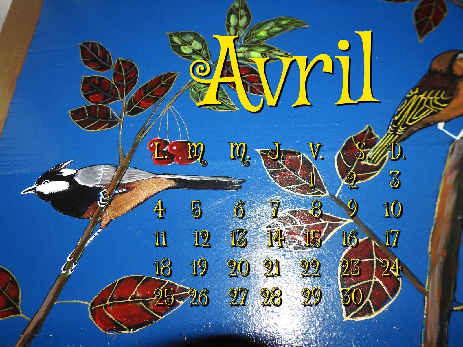 Calendrier Avril