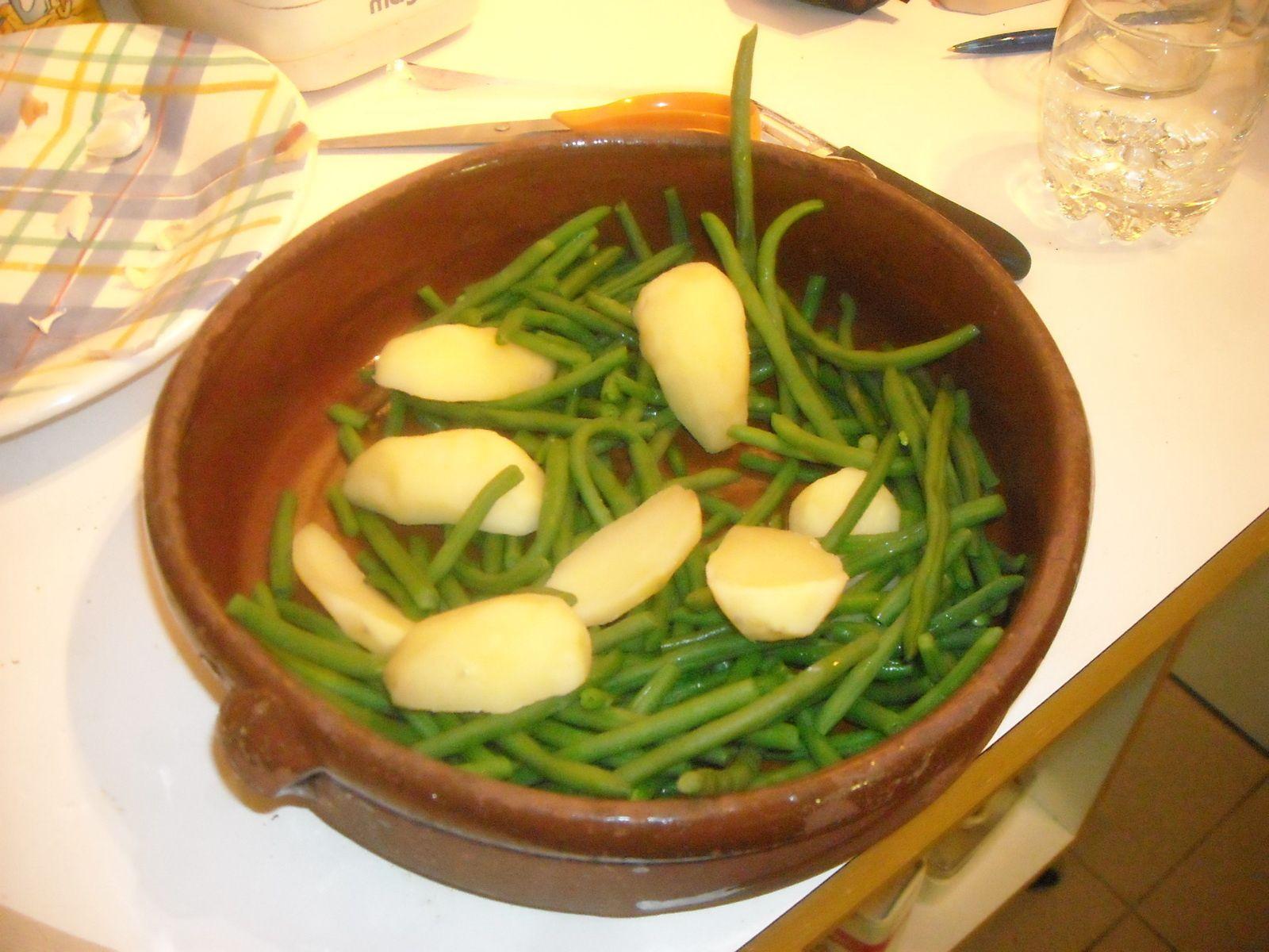 Mélange des légumes