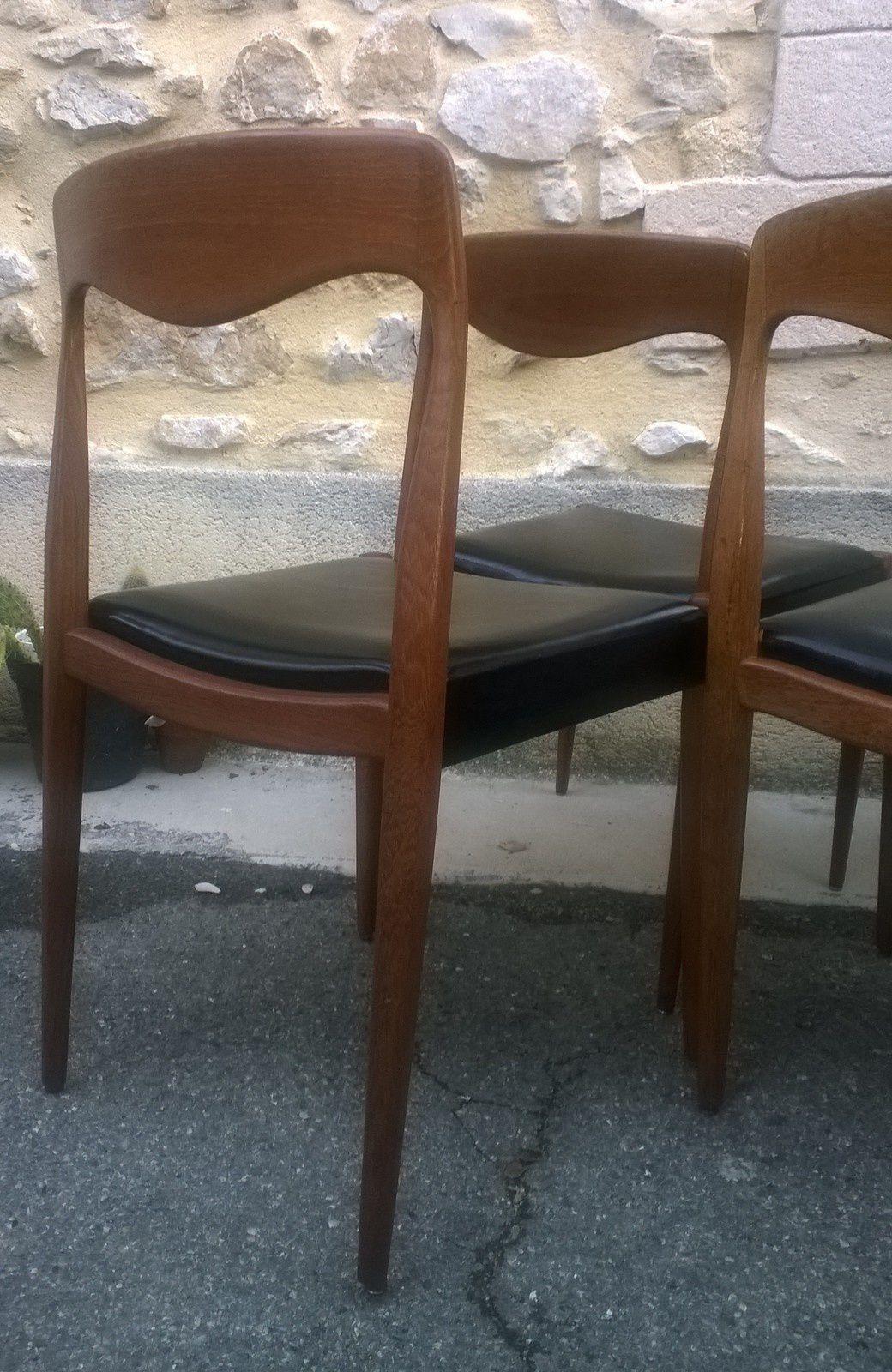 Chaises scandinaves du designer niels o moller 1960 for Designer scandinave annees 50